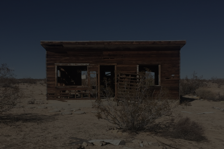 The front of the upcoming Yarfa cabin project in Joshua Tree, CA